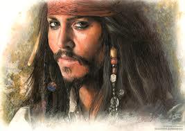 Il famoso pirata dei caraibi Jack Sparrow