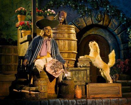 Capitan Jack Sparrow nell'attrazione Pirati dei Caraibi della Disney
