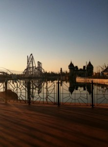 Magicland in una giornata d'inverno