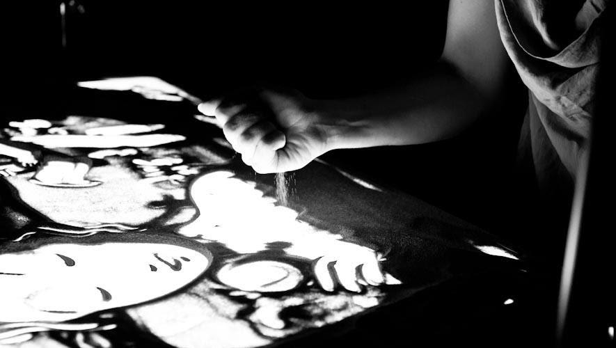 Sand Art di Gabriella Compagnone