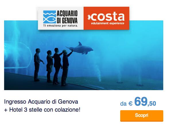 Entrata all'acquario di Genova + hotel